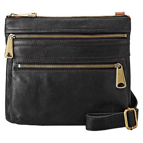 Buy Fossil Explorer Leather Across Body Bag Online at johnlewis.com