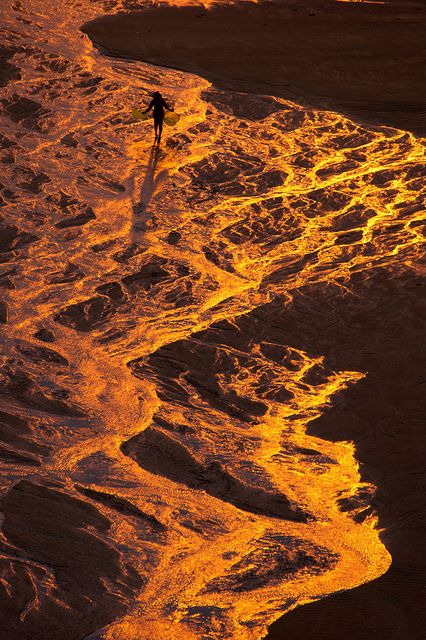 beach on fire , Sansha Fujian, CN
