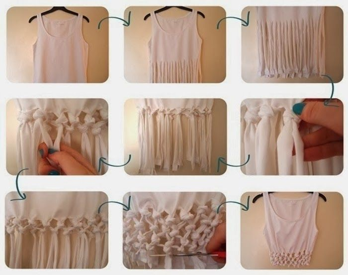 13 Awesome DIY Projects - DIY Fringe Shirt