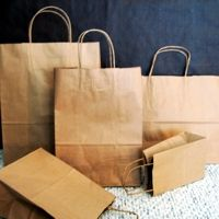 recycled kraft paper shoppers