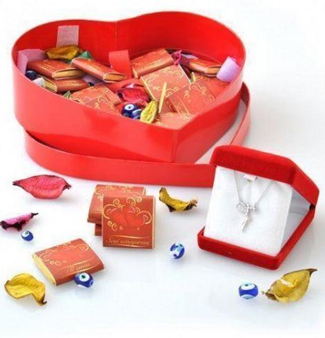 Farklı Dillerde Seni Seviyorum Çikolata -Sultan Altun Gümüş peri kızı Kolye