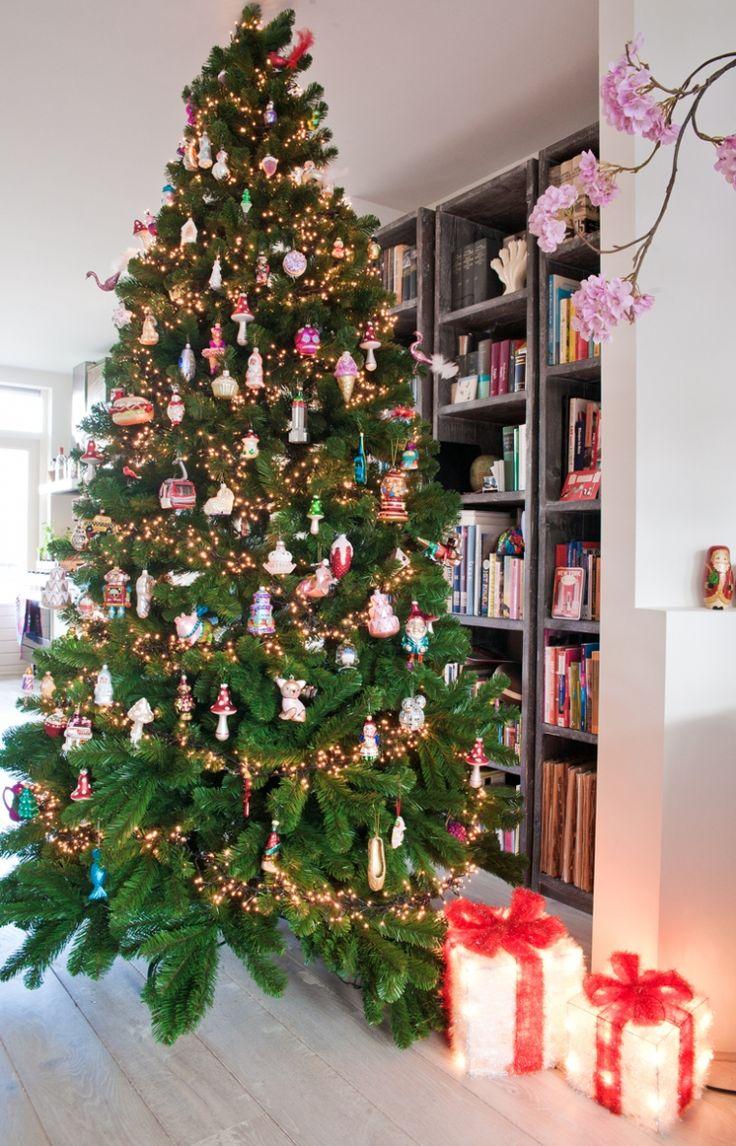 De kerstboom pronkt weer in huis
