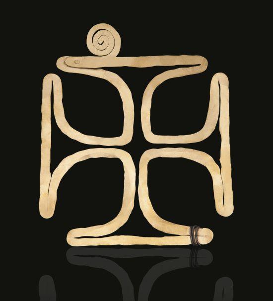 Alexander Calder Brass brooch circa 1943. The Gem Standard website.