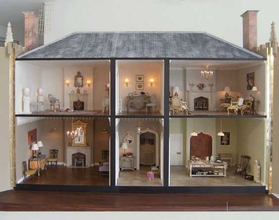 dolls house interiors. French style dolls house interior  94 best Dolls Houses images on Pinterest Beautiful