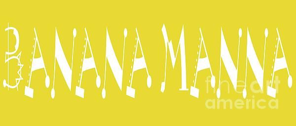 Banana Manna - Yellow - Color - Letter Art by Barbara Griffin
