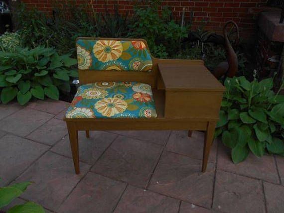 Mid Century / Vintage Telephone Table Seat and Lounge Chair