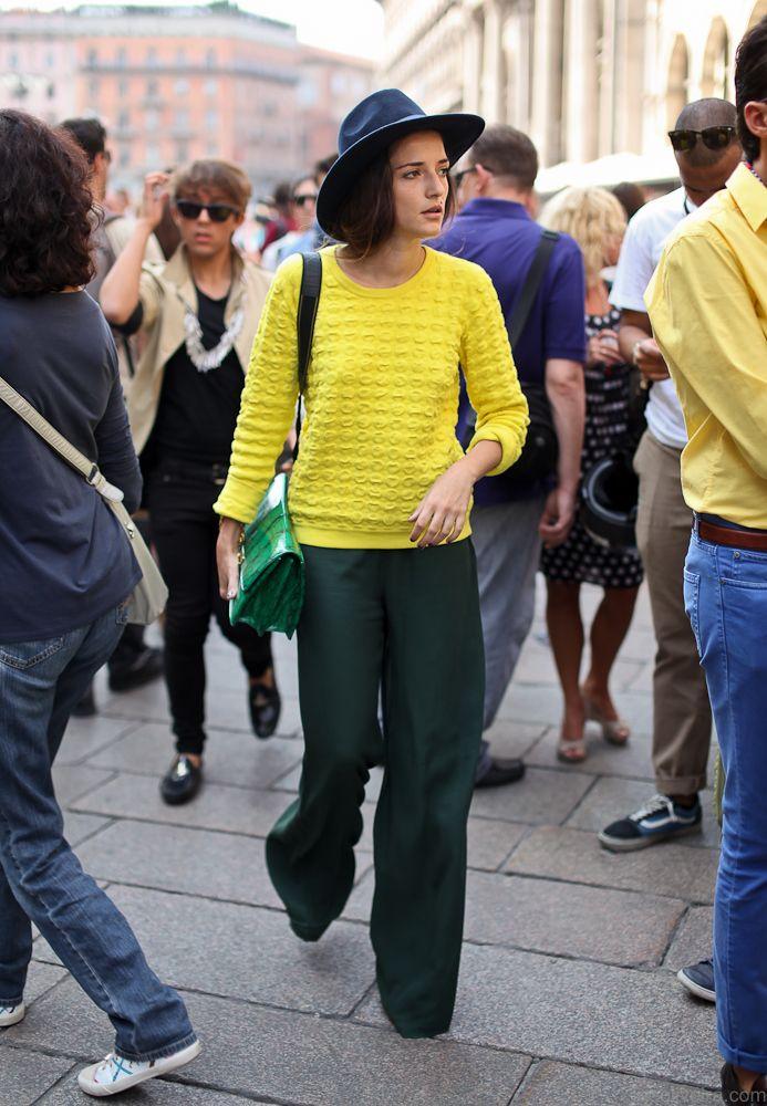 ♥ fluo, pantalon large, 70's