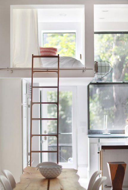 ladder loft bedroom so that i can pull the ladder up at night and nobody can get me.