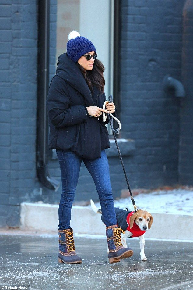 "Keep cozy like Meghan Markle in Kamik boots  Click ""Visit"" to buy #DailyMail"