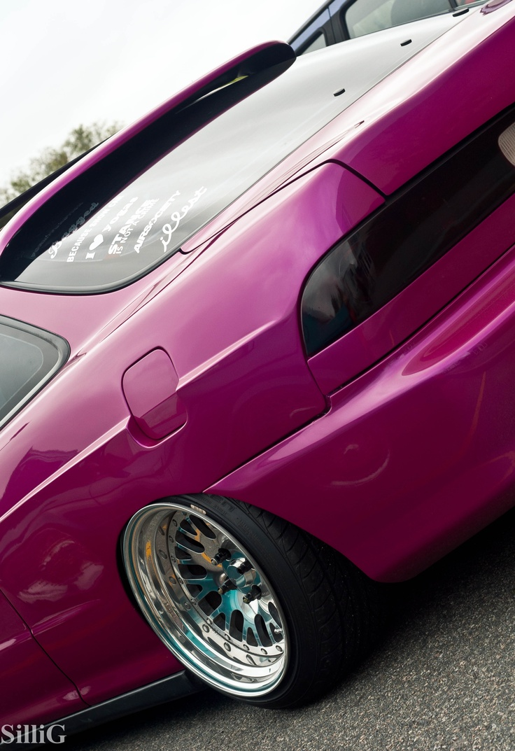 Pink Honda Merrimack College Car Show By SilliG25