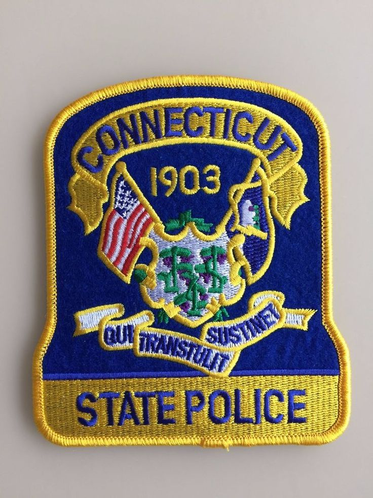 Patch Connecticut State Police Soulder Flashes Trooper New Original Rarity