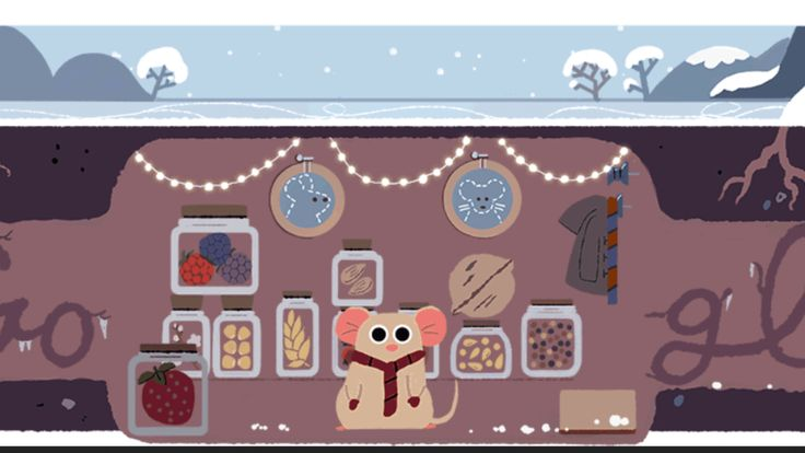 Winter Solstice 2017 Google doodle marks the shortest day of the year & official start of winter http://ift.tt/2BX3q1m