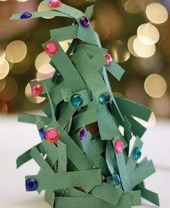 Paper Preschool Christmas Craft Tree | AllFreeKidsCrafts.com