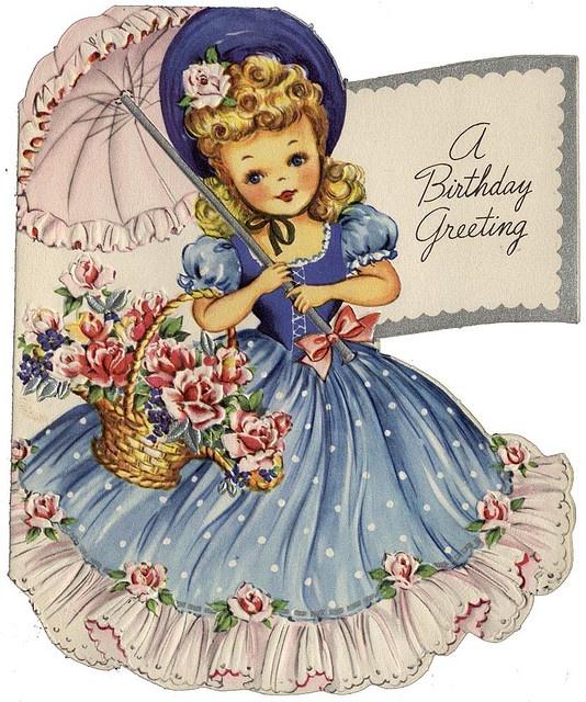 Открытки с днем рождения с куклами старинные