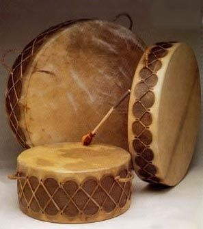 Native American Pow-wow drums were used as musical instruments. Incorporating music into the Native American history is very important because it was a large part of rituals and ceremonies for the Native Americans. RJT