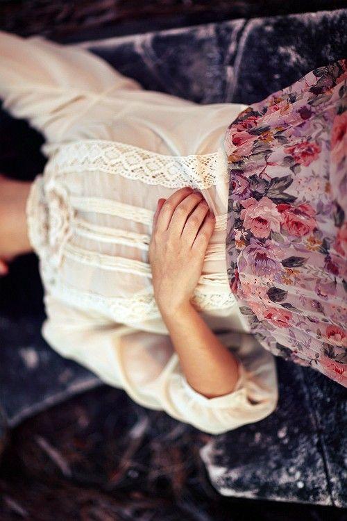 #shirt #floral #skirt