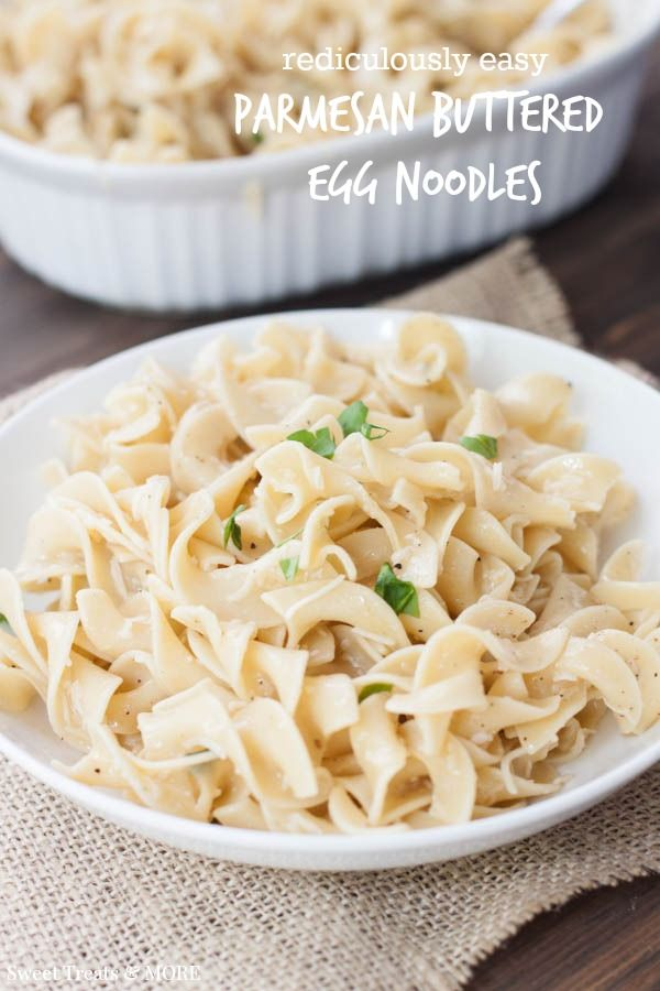 Quick and Easy Parmesan Buttered Noodles || Sweet Treats and More. - Just like the name, quick and easy.  I used fresh parsley.