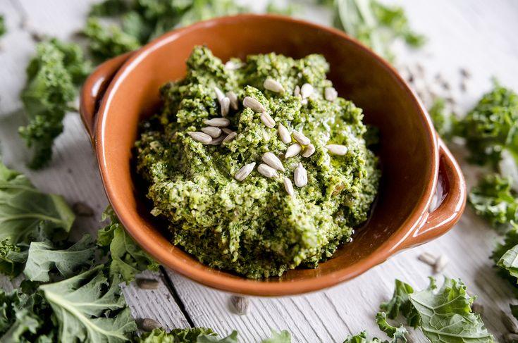 Kale pesto with sunflower seeds