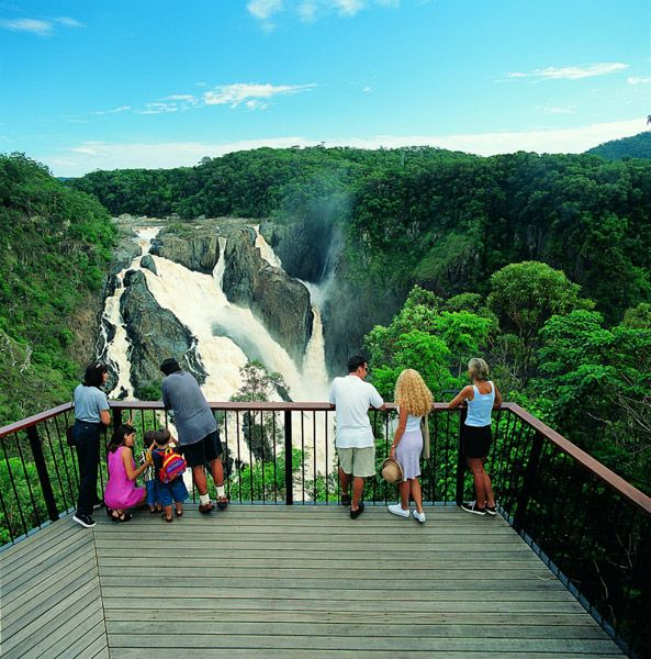 Kuranda is the best place in the region to view the stunning Barron Gorge and the mighty Barron Falls waterfall. #kuranda #cairns