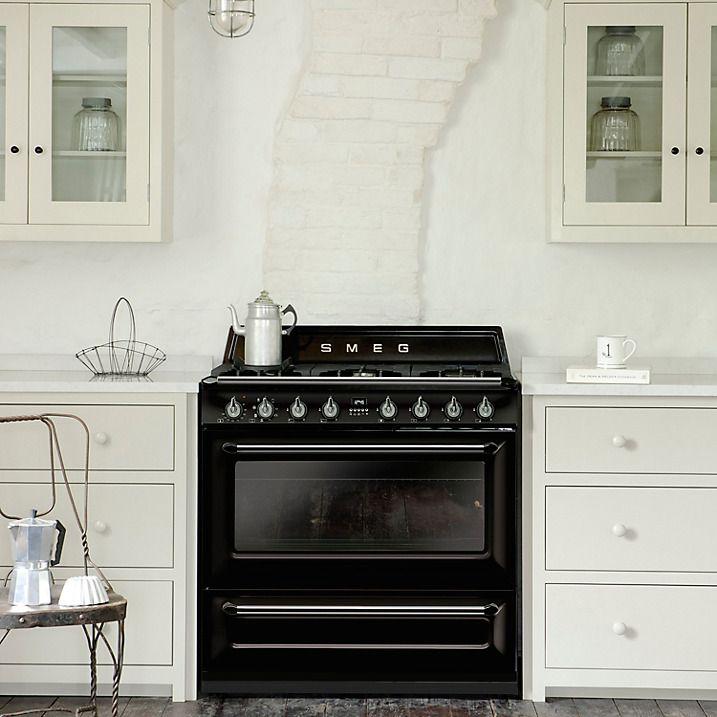 Buy Smeg TR90BL1 90cm Victoria Range Cooker, Gloss Black Online At  Johnlewis.com
