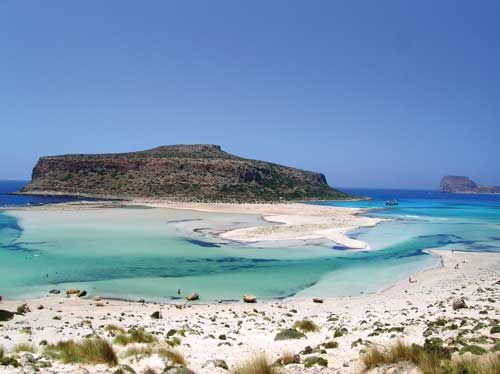 Balos Crete, North west coast. Beautiful lagoon.