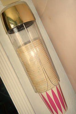 Dixie cup dispenser.