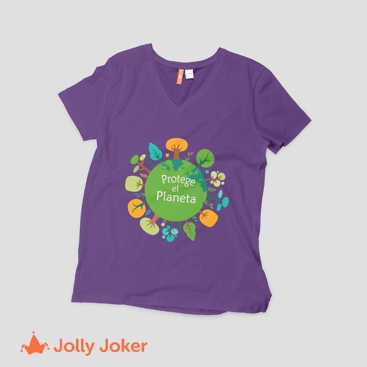 ¡Protege el planeta! crea las camisetas para tu grupo y ordenalas, quedaran increibles! El día de la tierra es más que un día