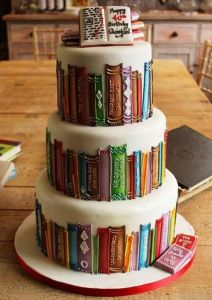 Books. And cake. The two best things in life.
