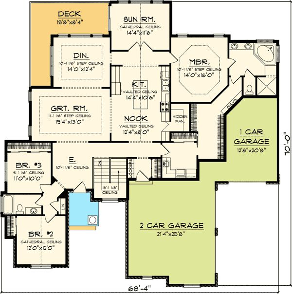 707 Best Images About House Plan Favourites 2 On: house plans with 4 car attached garage