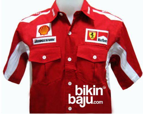 baju seragam korporat f1, model kemeja formula one terbaru, contoh model baju seragam kerja f1 terbaru