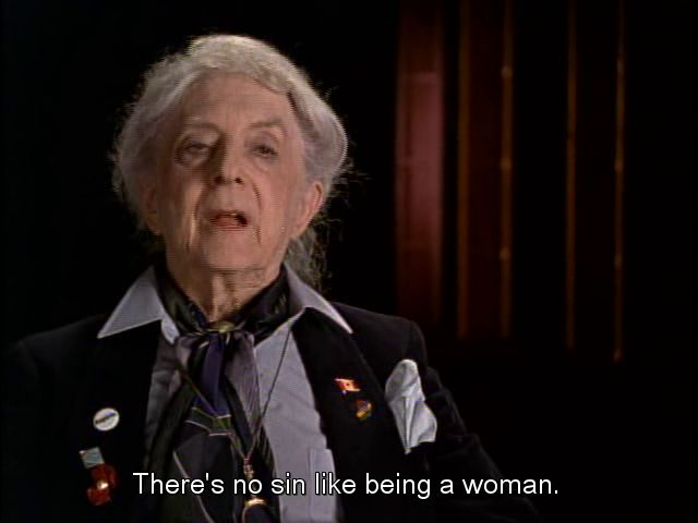 """bewholefede: """"""""Quentin Crisp in The Celluloid Closet   directed by Rob Epstein, Jeffrey Friedman   from the book by Vito Russo   1995 """" """""""