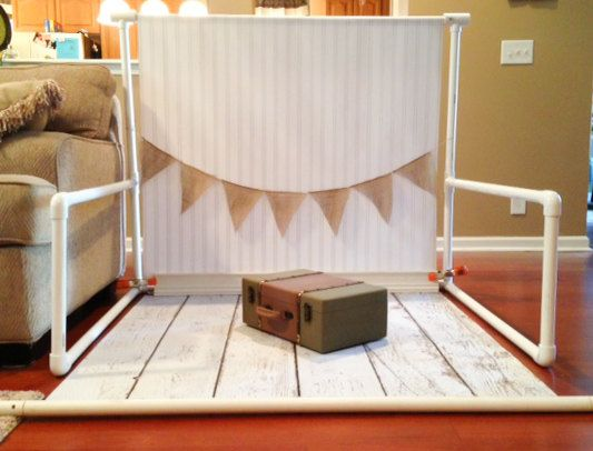 DIY Newborn photography backdrop stand by vizionphotography