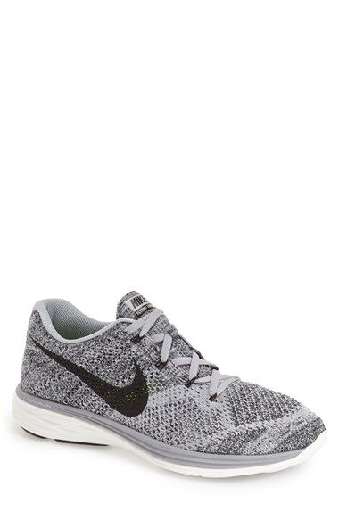 Grey | Size: 6 Nike 'Flyknit Lunar 3' Running Shoe (Men) available at #Nordstrom