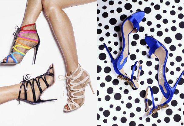 Sapatos com estampas de poá e arco-íris na Salvatore Ferragamo!