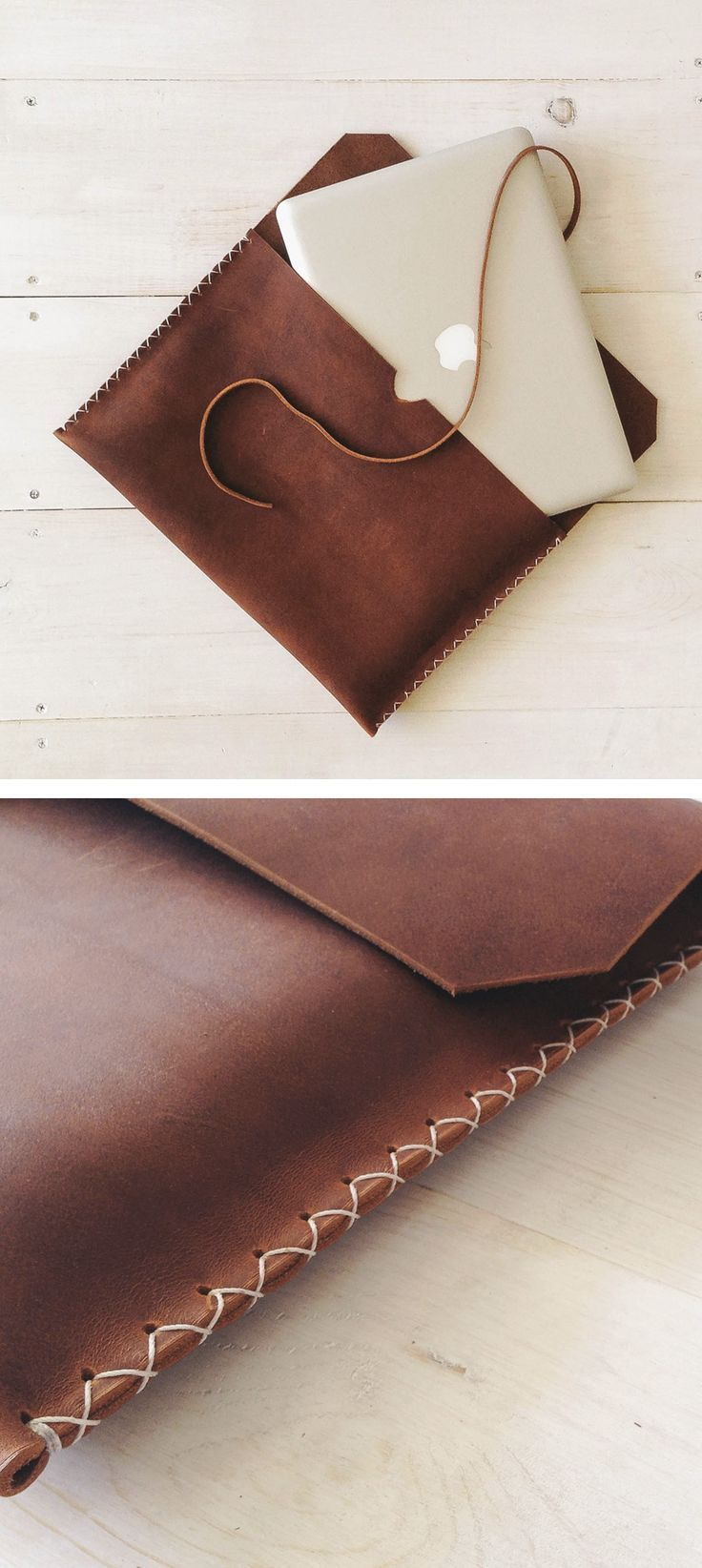Brown leather MacbookPro Case