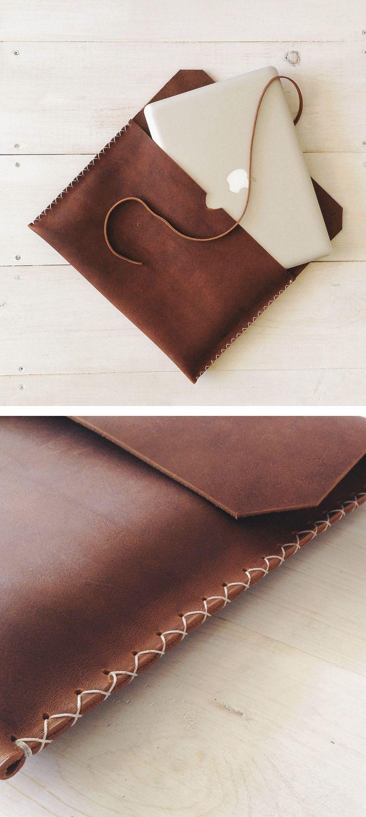 Brown leather MacbookPro Case