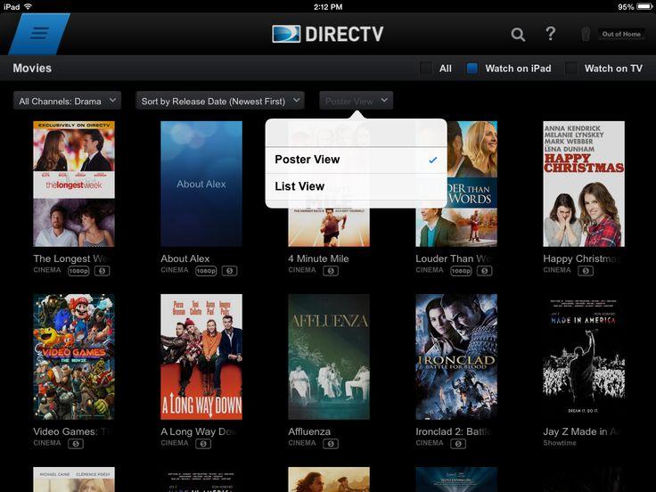 Directv movies Directv, Movies, Ipad
