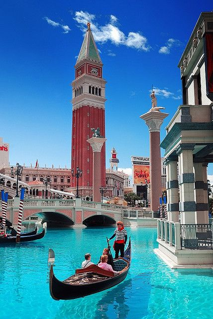 The Venetian - Las Vegas  Fun experience - the gondoliers actually sing in italian