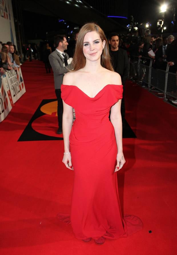 Lana Del Rey on Brit awards 2012. More beautiful pictures on: http://bit.ly/HUxklk