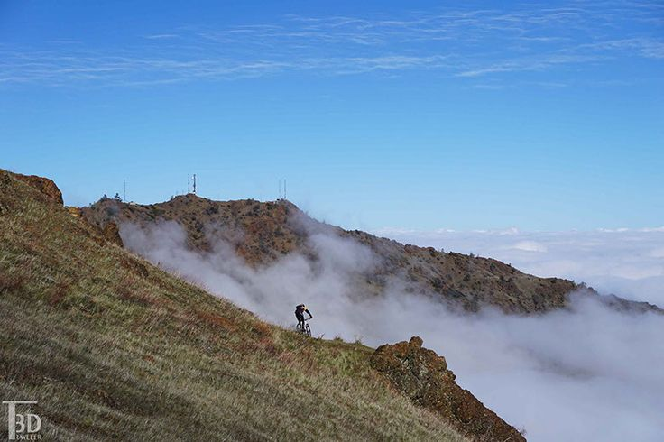 the trail from the summit of Mount Diablo is very popular for mountain biking