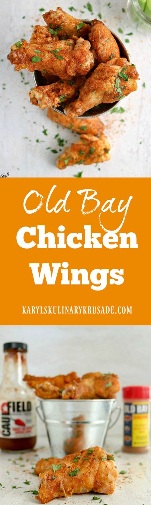 Old Bay Chicken Wings are a fabulous way to bring a little bit of Maryland into your life. The delicious blend of seasonings will wake up your taste buds! #chicken #wings #appetizer #partyfood #tailgate #gameday #spicy #oldbay #caulfieldprovisioncompany #karylskulinarykrusade
