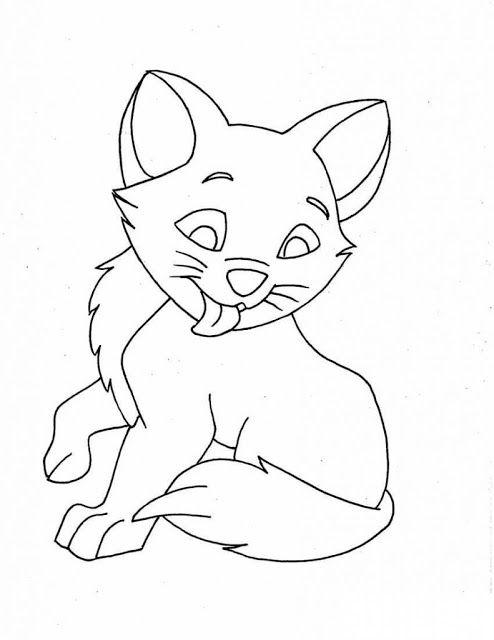 Mewarnai Gambar Hewan Kitty Kucing Lucu Aneka Mewarnai Coloring