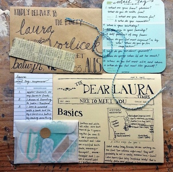 snail mail ideas google search