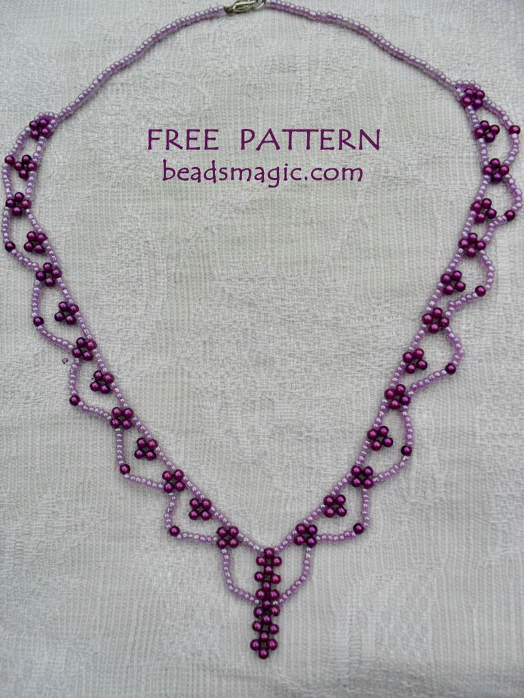 Free pattern for necklace Wild Berry (Beads Magic)