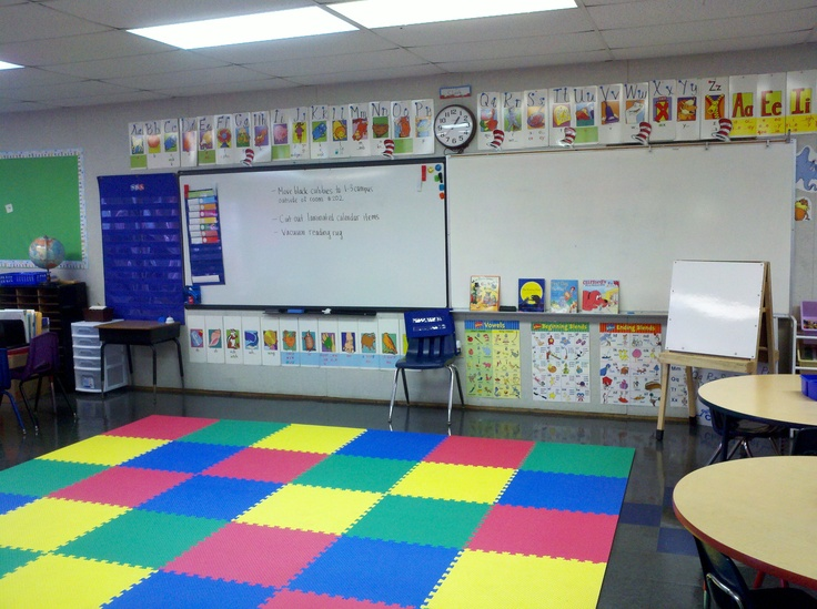 Classroom Design And Routines ~ My mom got this mat for kindergarten classroom they