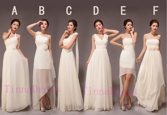 New arrival Cheap Bridesmaid dresses,  long bridesmaid dress Chiffon -6 styles availble on Etsy, $98.00