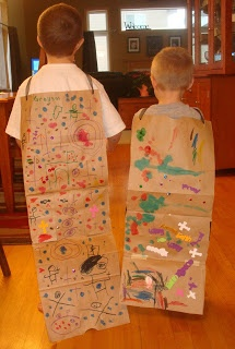 Bible Super Hero Capes!  Make a cape from a brown paper bag to help your child learn about Brave people in the Bible.  We chose Queen Esther!  https://lovenloot.blogspot.com