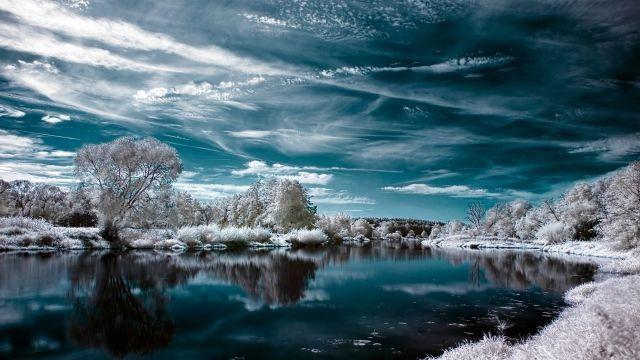 Nature Lake Winter Snow Wallpaper Winter Wallpaper Desktop Winter Wallpaper Computer Wallpaper Windows 10 wallpaper 1920x1080 winter