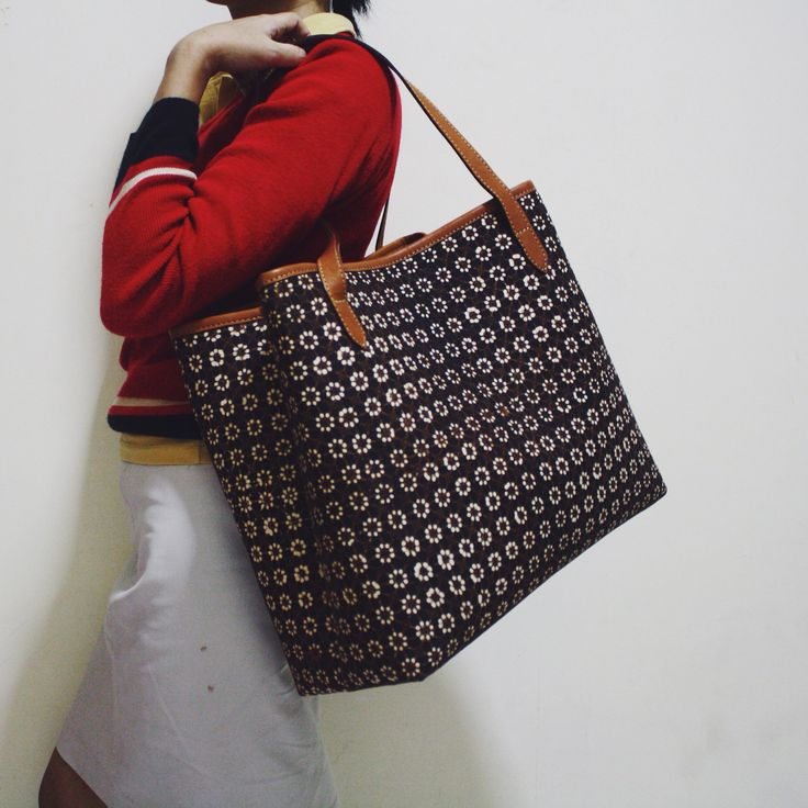 Truntum Batik pattern combined with Utari Tote Bag #djokdjabatik