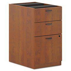 * BL Laminate 3-Drawer Pedestal File, 15-5/8w x 21-3/4d x 27-3/4h, Medium Cherry  #MotivationUSA #Home